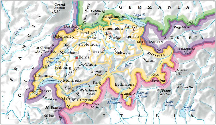 Cantoni Cartina Della Svizzera.Cantoni Della Svizzera Documenti Foto E Citazioni Nell Enciclopedia Treccani
